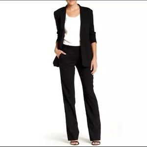 THEORY Emery Black Linen Dress Work Pants Size 00
